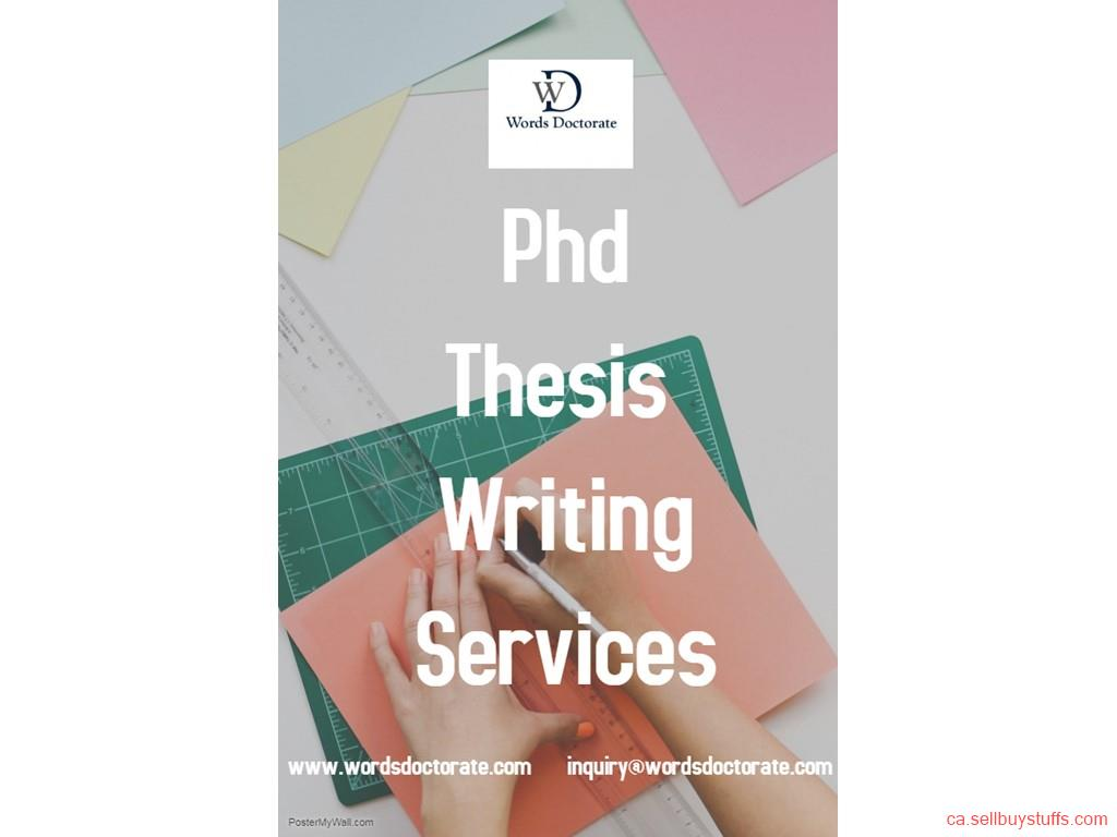 Doctoral dissertation writing services toronto