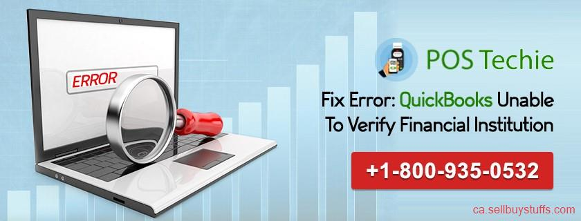 second hand/new: Fix Error QuickBooks Unable To Verify Financial Institution