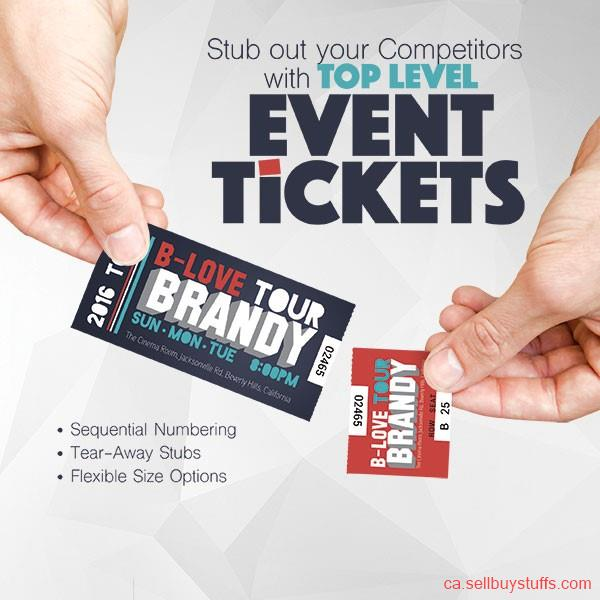 second hand/new: Event Ticket Printing